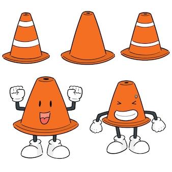 Set vector de cône de signalisation