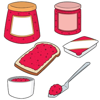 Set vector de confiture