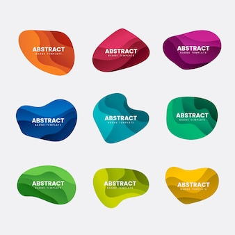 Set de vector design abstrait badge