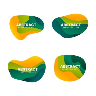 Set de vector design abstrait badge