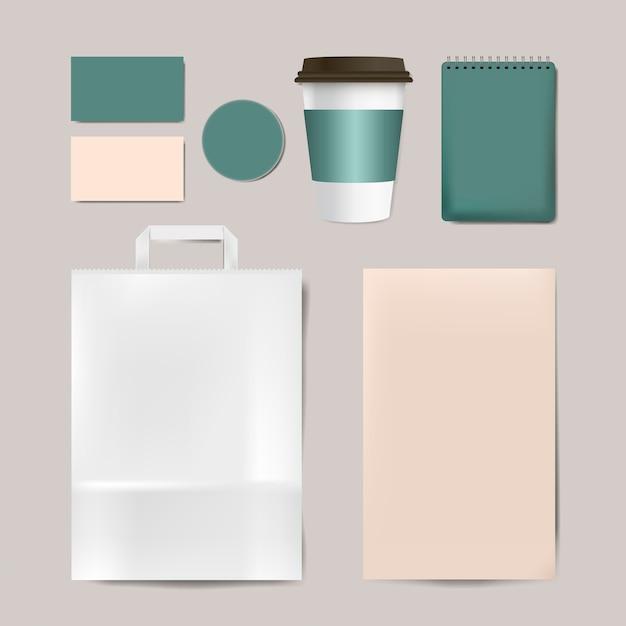 Set De Vector Papier Maquette Marque Vecteur gratuit