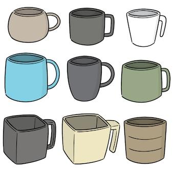 Set vector de tasse de boisson