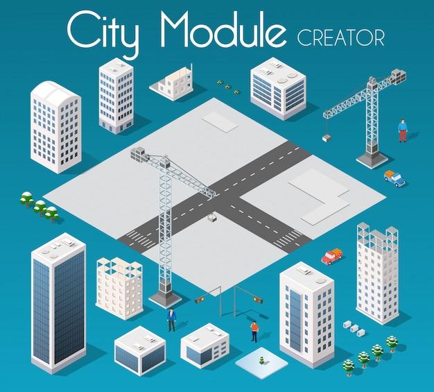 Set de ville isométrique