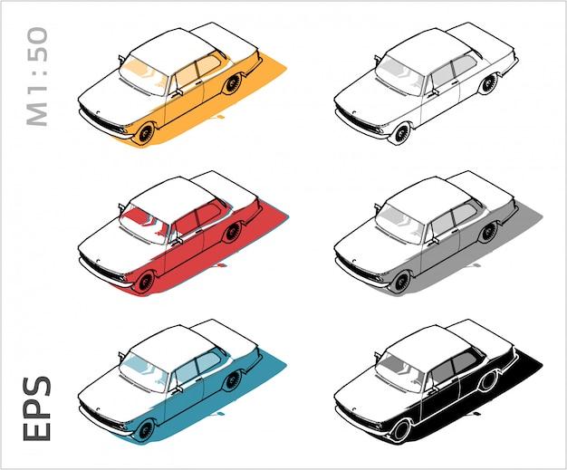 Set de voiture pour le dessin