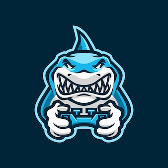 Shark gaming joystick e sport logo