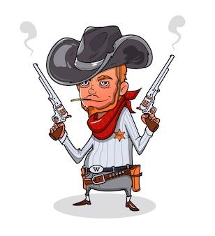 Shérif avec deux revolvers