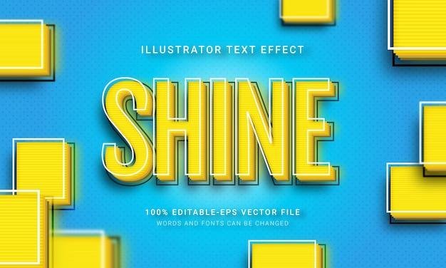 Shine couche sur le thème d'effet de style de texte 3d.