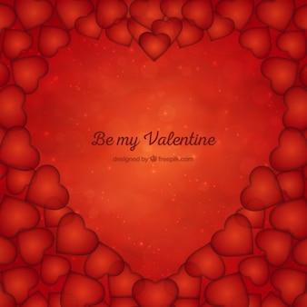 Shiny valentines day background avec des coeurs