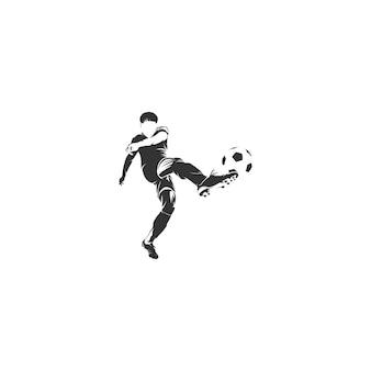 Shoot ball football joueur