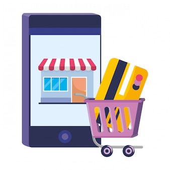 Shopping illustration en ligne