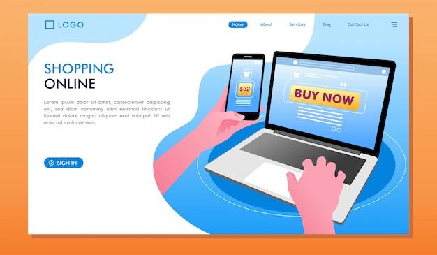 Shopping en ligne acheter maintenant page de destination