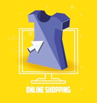 Shopping en ligne avec desktop
