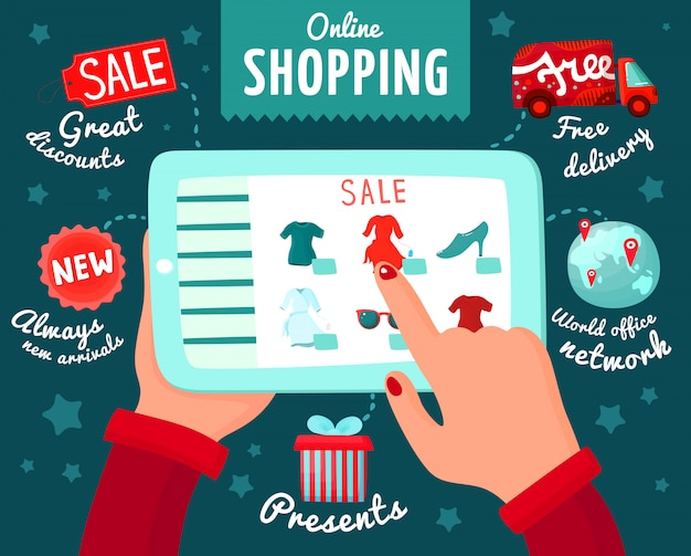 Shopping à partir de smartphone