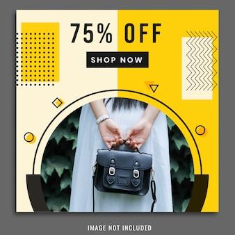 Shopping social media post modèle de conception