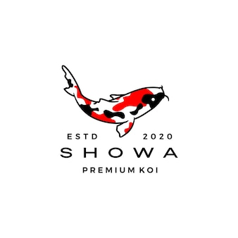 Showa sanshoku koi fish logo icône illustration