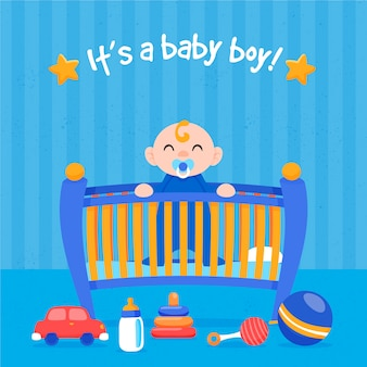 Shower de bébé avec concept de garçon