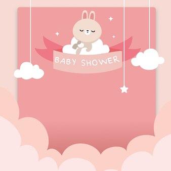 Shower de bébé mignon lapin mignon