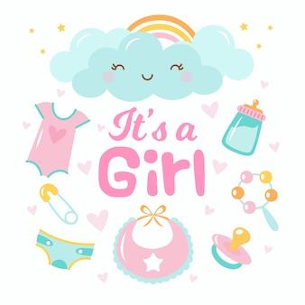 Shower de bébé pour fille