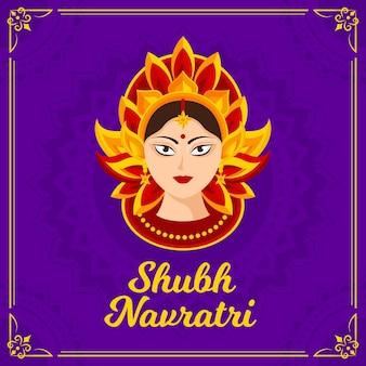 Shubh navratri avec la déesse hindoue