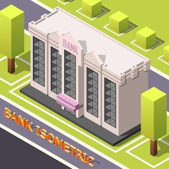 Siège de la banque isométrique