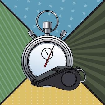 Sifflet et chronomètre