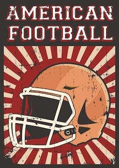 Signage d'affiche d'art de bruit de football américain de rugby de football rétro
