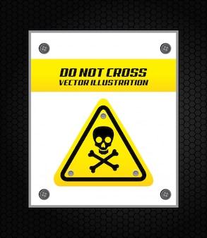Signal d'avertissement sur noir