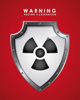 Signal d'avertissement sur le rouge