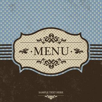 Signature du menu vintage