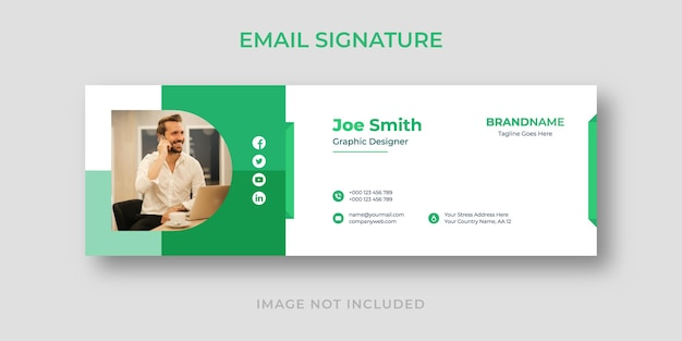 Signature d'e-mail ou pied de page d'e-mail