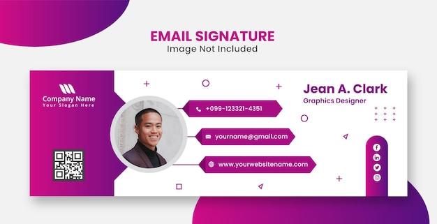 Signature électronique d'entreprise moderne et professionnelle pour le site web