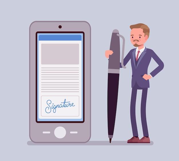 Signature électronique sur smartphone