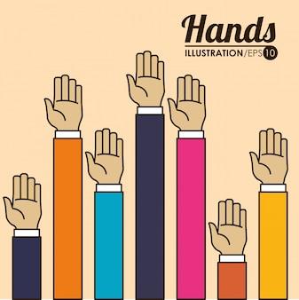 Signaux des mains