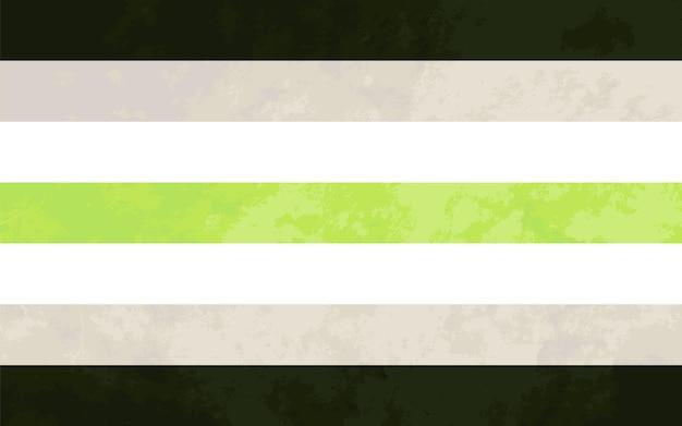 Signe d'agender, drapeau de fierté d'agender avec la texture