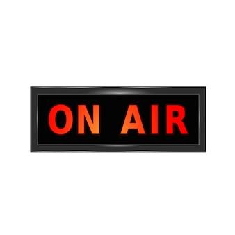 Le signe de l'air. studio d'enregistrement on air light box. illustration graphique isolée