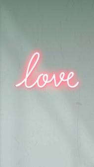 Signe d'amour au néon