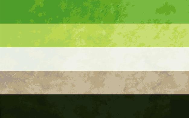 Signe aromatique, drapeau de fierté aromatique avec texture