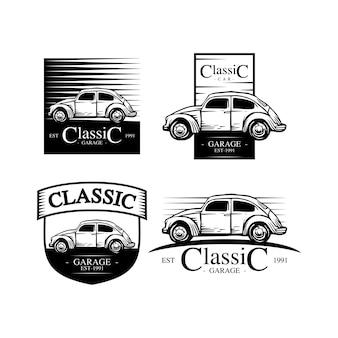 Signe d'atelier de voiture classique