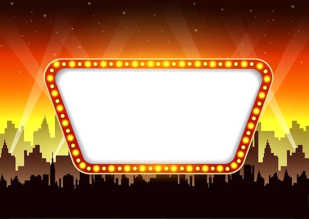 Signe de bannière de film de théâtre