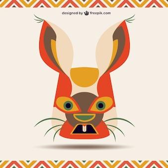 Signe chinois de lapin de zodiaque