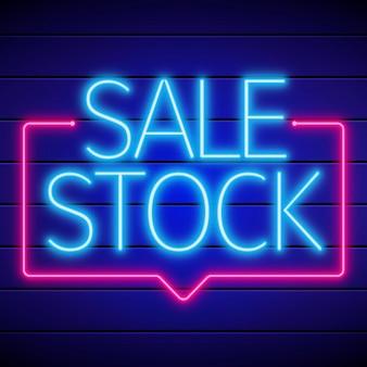 Signe de choc de vente au néon