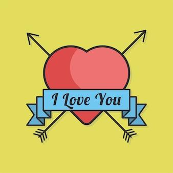 Signe de coeur d'amour