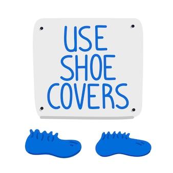 Signe de couvre-chaussures