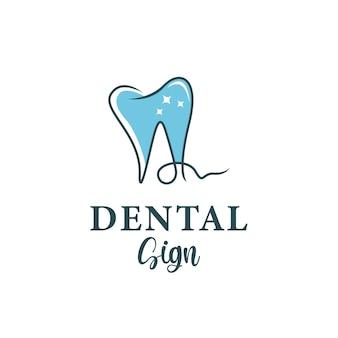 Signe dentaire de logo avec la lettre a