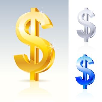 Signe de dollar abstrait