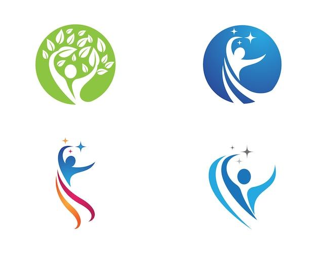Signe du logo du personnage humain