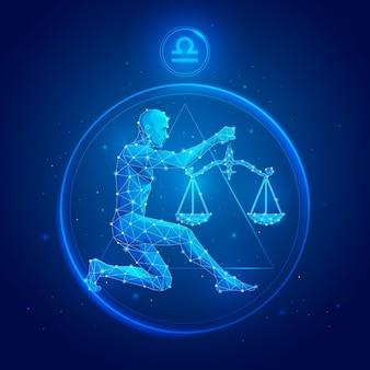 Signe du zodiaque balance en cercle