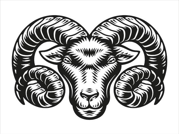 Signe du zodiaque bélier isolé sur blanc