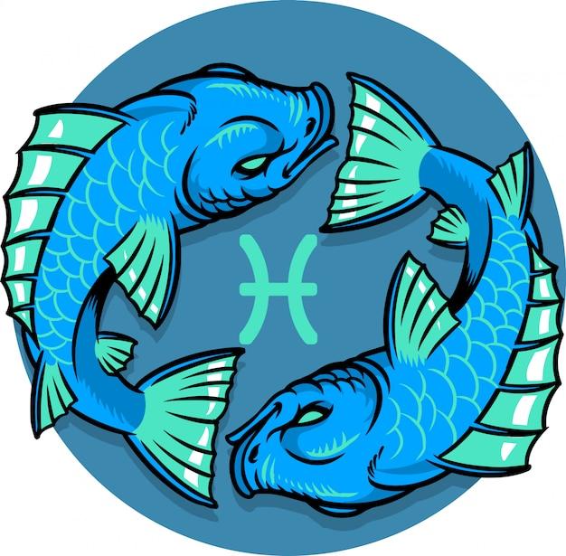 Signe du zodiaque poissons