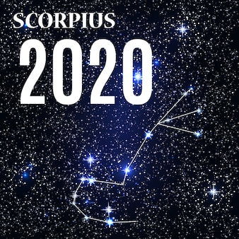 Signe du zodiaque scorpion avec le nouvel an et noël 2020.
